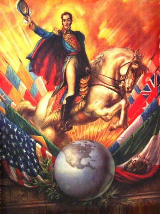 Jesùs Helguera Simon Bolivar óleo sobre lienzo